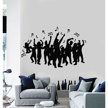 Vinyl Wall Decal Music Notes Night Club Party Disco Dance Stickers Mural (g1809)