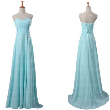 Blue bridesmaid dress, chiffon bridesmaid dress, simple bridesmaid dresses, cheap bridesmaid dresses, blue prom dresses, bridesmaids dresses