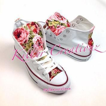 custom floral high top converse made to order any size