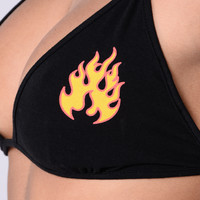 Just Like Fire Bralette - Black