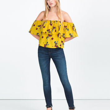 OFF - THE-SHOULDER TOP-View All-TOPS-WOMAN | ZARA United Kingdom