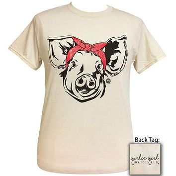 Girlie Girl Originals Preppy Bandana Pig T-Shirt