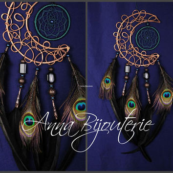 Dream Catcher Black Moon Dreamcatcher Copper Dream сatcher dreamcatchers boho dreamcatchers wall decor handmade decoration idea gift idea
