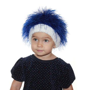 Baby hats / Cabbage Patch Kids Hat  / Beanie Wig  / Children  fuzzy hat  Thing 1 Thing 2/ Baby costume / Halloween Costume / troll wig