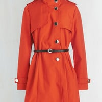 Military Long Long Sleeve If It Makes You Poppy Coat by ModCloth