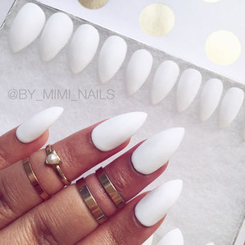 Matte White Press On Nails