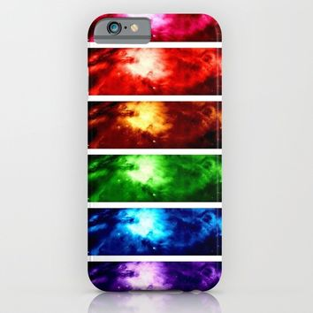 Rainbow Nebula iPhone & iPod Case by AngelNumbers
