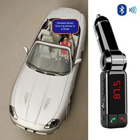 NEW Car FM Music Broadcaster with Bluetooth and Car Charger