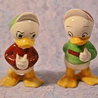 FREE SHIPPING Huey And Louie Salt And Pepper Shakers, 1950's Character Shakers
