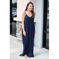 Walk The Walk Maxi - Dusty Navy