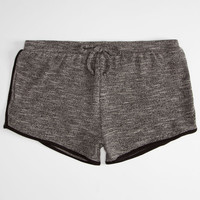 Full Tilt French Terry Girls Shorts Grey/Black  In Sizes