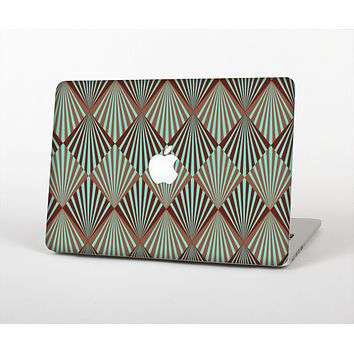 """The Green and Brown Diamond Pattern Skin for the Apple MacBook Air 13"""""""