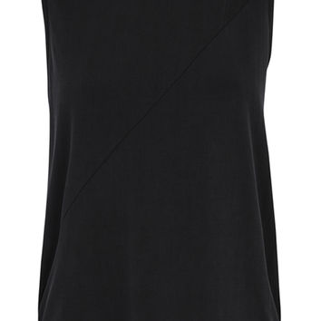 Morena Black Panelled Vest Top