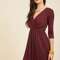 After the Party A-Line Dress in Maroon | Mod Retro Vintage Dresses | ModCloth.com
