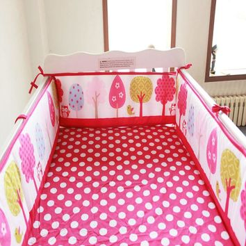 9 styles Cartoon baby bumper 100% cotton baby bedding crib bumper around baby Cot protetor de berco de bebe baby bed guard fence