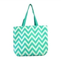 Chevron Aqua College Girl Tote College Supplies Dorm Supplies Laptop Bag for Girls Cute Backpack