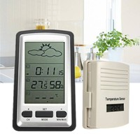 ELEGIANT Hot Outdoor Indoor Weather Station Thermometer Humidity Meter Digital Wireless