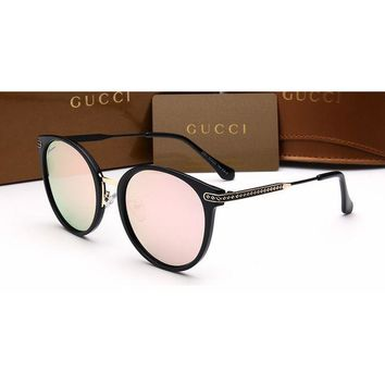 Gucci Chanel Women Casual Sun Shades Eyeglasses Glasses Sunglasses Pink G