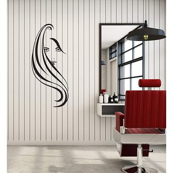 Wall Sticker Beauty Salon Hair Spa Woman Barbershop Decor Vinyl Decal (g016)