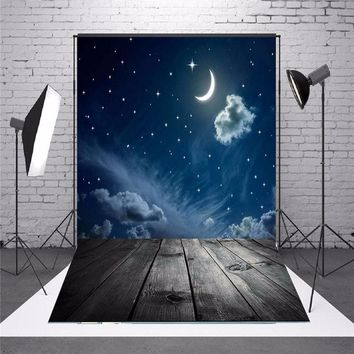 3x5ft Vinyl Photography Background Moon Star Baby Theme Backdrops Studio Props