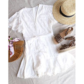 Making a Living Faux Wrap Dress in White