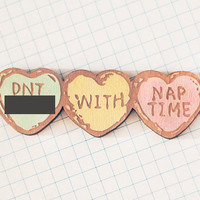 Dnt Fck with Naptme Brooch  Wear your love for by shopsucrenoir