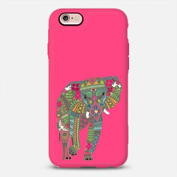 painted elephant hot pink iPhone 6s case by Sharon Turner | Casetify