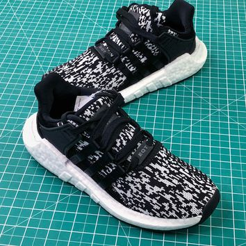Adidas Eqt Support 93/17 Black Glitch Boost Sport Running Shoes - Best Online Sale