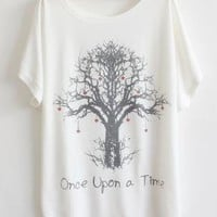 Love Tree BianFuShan Loose Short-sleeved T-shirts
