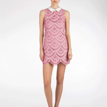 Cynthia Rowley - Scallop Embroidered Linen Shift