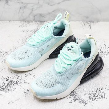 Nike Air Max 270 GS Flyknit Mint Green Running Shoes - Best Deal Online
