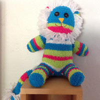 Handcrafted Fuzzy Sock Lion