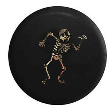 Dancing Skeleton RV Camper Jeep Spare Tire Cover