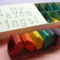 SIZE 6 Crayon Rings set of 8 by OhMyLuckyStar on Etsy