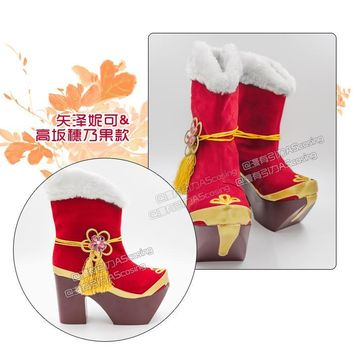 Naruto Sasauke ninja Love live!Seven Lucky Gods Awaken Boots Only for Characters Cosplay Shoes in stock   2016 AT_81_8