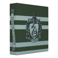 Slytherin Crest Vinyl Binder from Zazzle.com