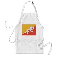 Apron with Flag of Bhutan