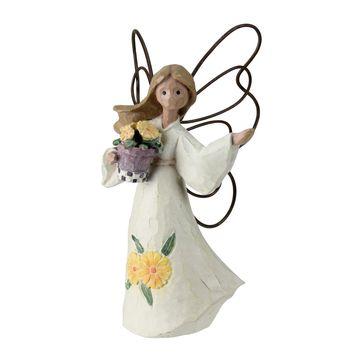 Set of 4 November Angels with Marigolds Figurines #49311