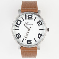 Geneva Clean Watch Tan One Size For Men 23592541201