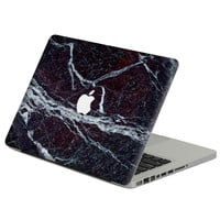 "Black marble effec Laptop Decal Sticker Skin For MacBook Air Pro Retina 11"" 13"" 15"" Vinyl Mac Case Notebook Body Full Cover Skin"
