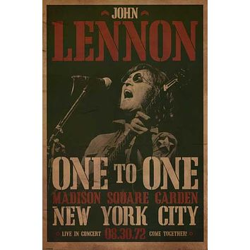 John Lennon One to One Concert Poster 24x36
