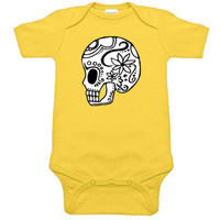 Day of the Dead Sugar Skull Yellow One Piece
