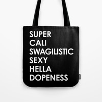 SUPER CALI SWAGILISTIC SEXY HELLA DOPENESS (Black & White) Metal Travel Mug by CreativeAngel