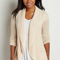 waffle knit cocoon cardigan | maurices