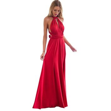 Elegant Multiway Convertible Wrap Maxi Dress