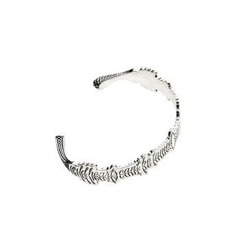 Wild Hearts Can't Be Tamed Sterling Silver Cuff