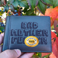 Bad Mother F*cker Leather Wallet Inspired by Pulp Fiction