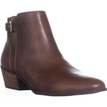 Dr. Scholl's Beckoned Buckle Ankle Boots, Whiskey, 8 US / 38 EU