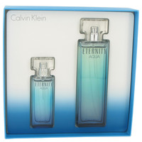Eternity Aqua perfume by Calvin Klein 3.4 oz Eau De Parfum Spray and 1.0 oz Eau De Parfum Spray
