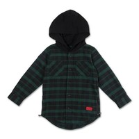 George Hooded Flannel (Black) – Haus of JR